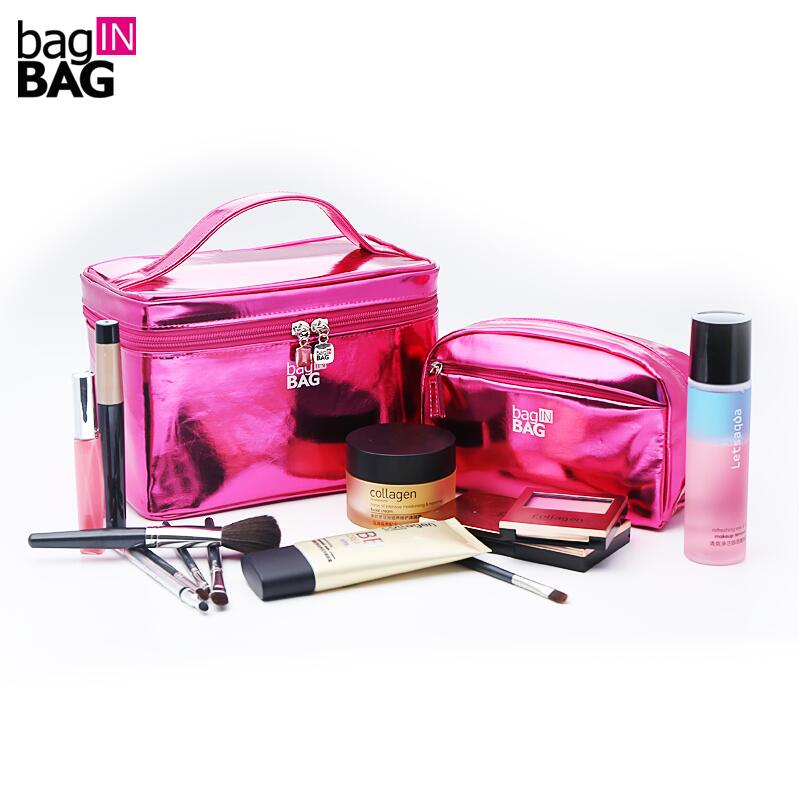 ФОТО 2017 Vivid Cosmetic Bag Set Makeup Bags Portable Cosmetics Twinset Travel Cosmetic Cases;  Light and Bright