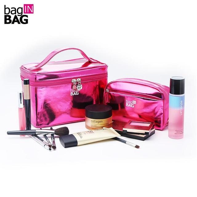 2017 Vivid Cosmetic Bag Set Makeup Bags Portable Cosmetics Twinset Travel Cosmetic Cases;  Light and Bright
