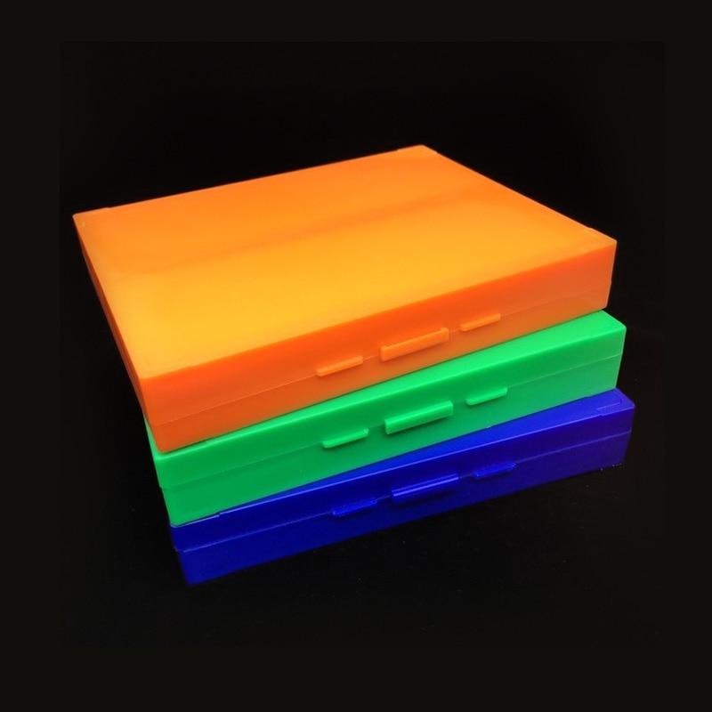Lab ABS Plastic Microscope Dispenser Slides Storeage Box 100pcs Pathological Slides Storage Holder Case