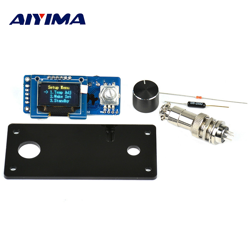 Aiyima T12 OLED Digital Soldering Iron Station Temperature Controller STC English Display Board With Acrylic Board цена и фото