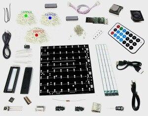 Image 2 - 新 TF カード 3D 8 8 × 8 × 8 ミニ多色 mp3 音楽ライト cubeeds キット内蔵音楽スペクトル、 led 電子 diy キット
