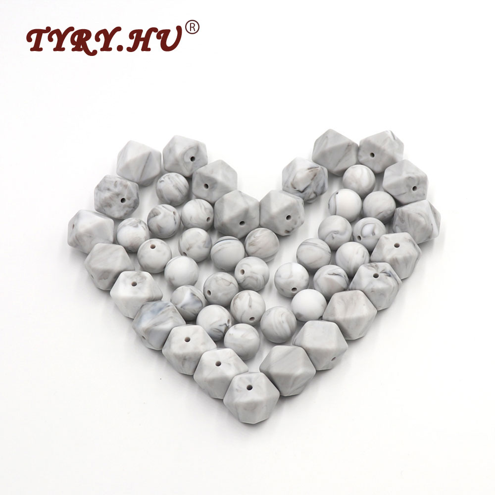 TYRY.HU 25pc Teether Silicone Beads For Jewelry Making