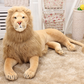 Simulation Lion stuffed animal Model giant cushion Lion Photography Props Children's Toys Plush Toys Big Lion Creative Gifts Toy library lion