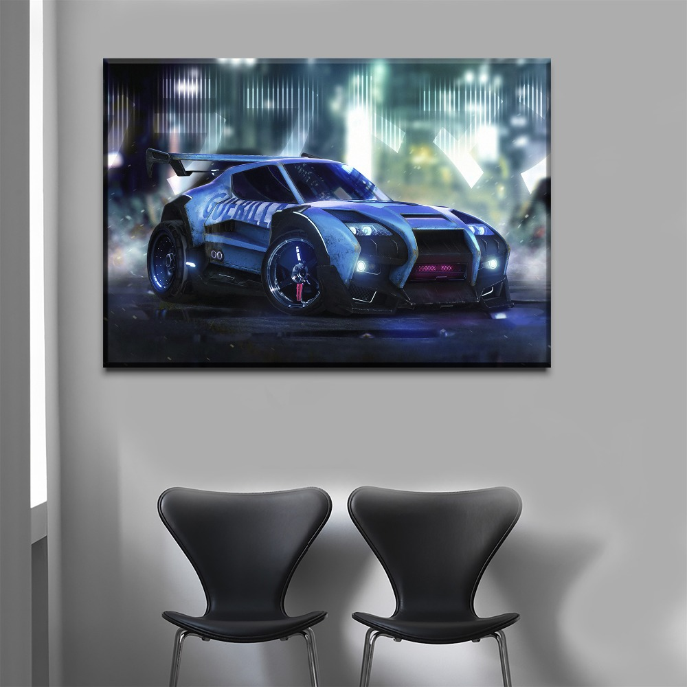 One-Set-Framework-Or-Unframed-3-Piece-Rocket-League-Cool-Game-Car-Picture-Living-Room-Home (2)