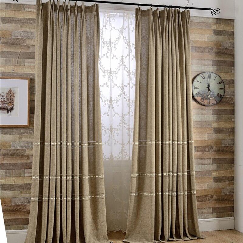 Rideaux en lin promotion achetez des rideaux en lin for Cortinas transparentes salon