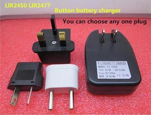 Новинка, зарядное устройство LIR2450 LIR2477 с литиево-ионным аккумулятором, 1 шт./лот