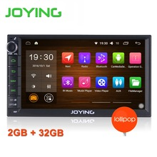 Newest JOYING 2GB RAM 32G ROM Double 2Din Android 5.1 Universal Car Radio Audio Stereo GPS Navigation Media Player Tape recorder