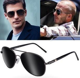 Dropshiiping New Men Loved Fashion Sunglasses  oculos de sol polarizer car driver mirror wild frog trend Sun glasses Jwf-013
