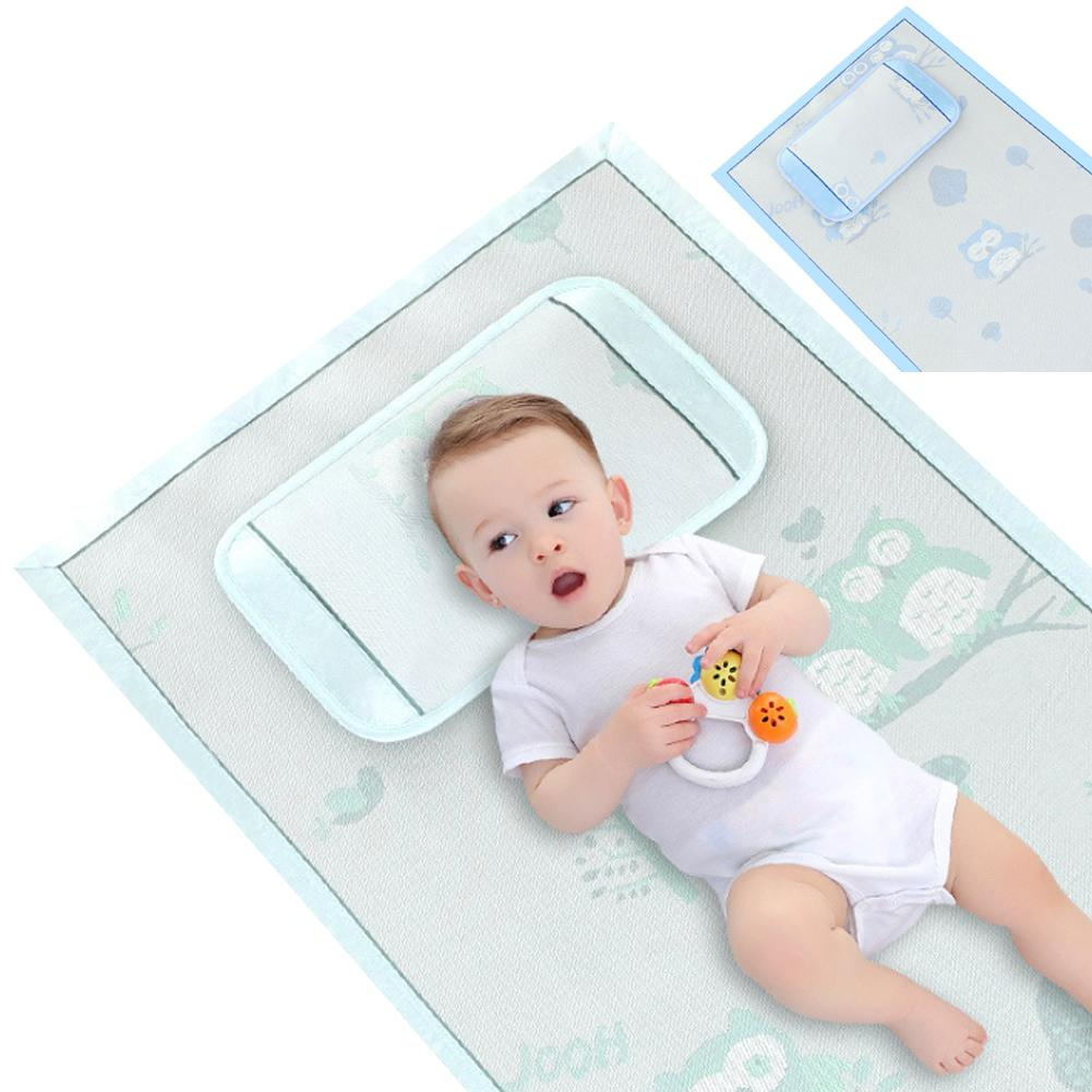 0-5 Years Old Baby Ice Mat Cot Comfort Mat Pillow Set Folding Baby Cool Mattress Crib Bedding For Summer