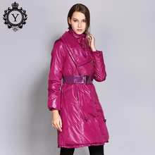 COUTUDI 2018 New Arrival Down Jacket Long Coat Female Slim Warm Winter Jacket Women High Quality Down Coats & Parkas for Women