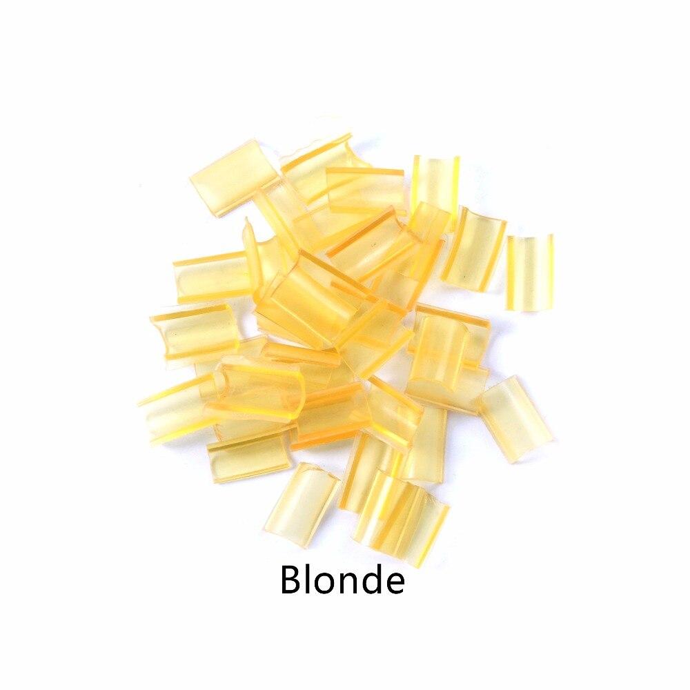 100pcs Keratin glue for hair Nail Tip Keratin U-Shaped Fusion Chips Glue Nail Tip Keratin Nail Tip for hair extension