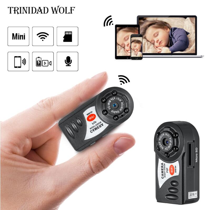 1080P HD WiFi P2P Mini Camera Car DV DVR Q7 Video Audio Recorder Webcam Night Vision DV 2.4G 802.11n WIFI Built in Antenna mini dv md80 dvr video camera 720p hd dvr sport outdoors with an audio support and clip