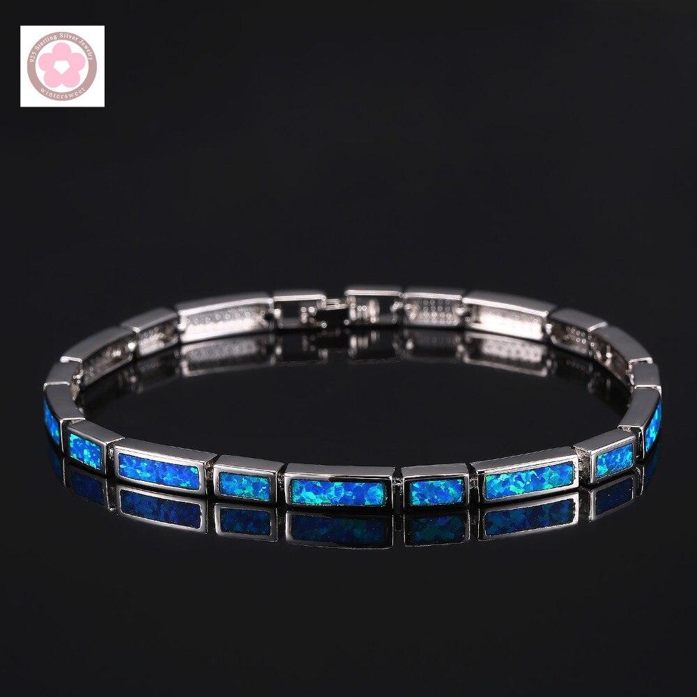 SZ0060  AAA Blue Opal Inlaid Fashion Bracelet For Women Jewelry Gift