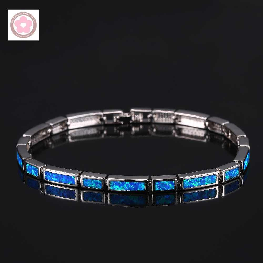 SZ0060  AAA Blue Opal Inlaid Fashion Bracelet For Women Jewelry Gift