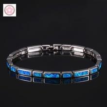 SZ0060 AAA الأزرق أوبال مطعمة سوار الموضة للنساء مجوهرات هدية