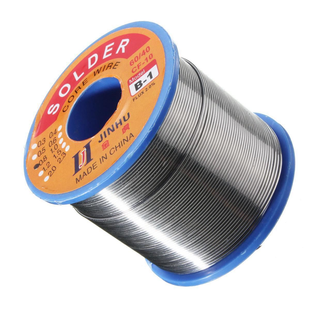 купить 500g 60/40 Tin lead Solder Wire Rosin Core Soldering 2% Flux, 0.7Mm 1 Reel по цене 789.54 рублей