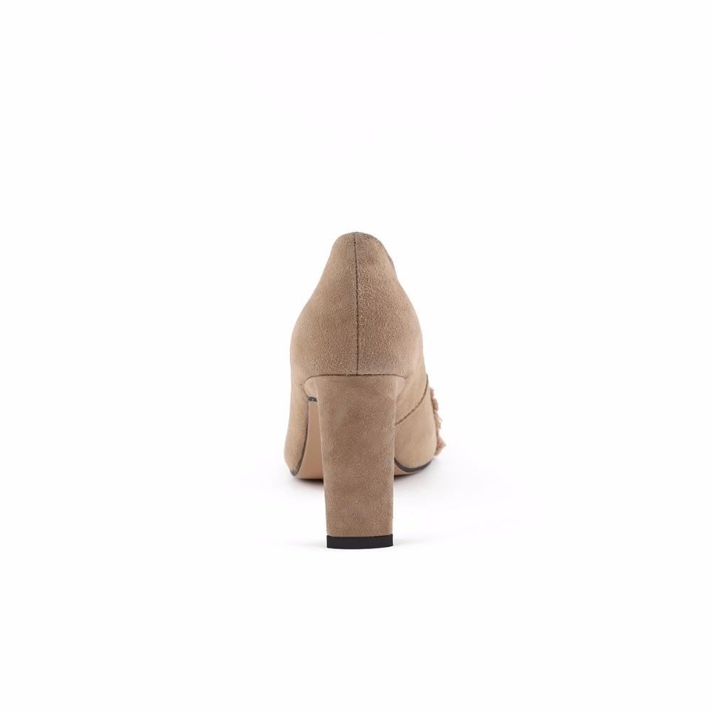Furtado Robe Chaussures Talons Lady Cm Sabot Black nude Dames 8 2018 Printemps Automne Femme Arden Haute Nue Parti Ruches Mode Bureau Pompes qACndSw