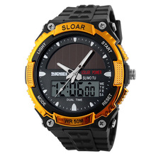SKMEI Sport Watch mężczyźni zegar męski cyfrowy nadgarstek zegarki Top Outdoor Solar Power 12/24 godziny wodoodporny męski zegarek Relojes