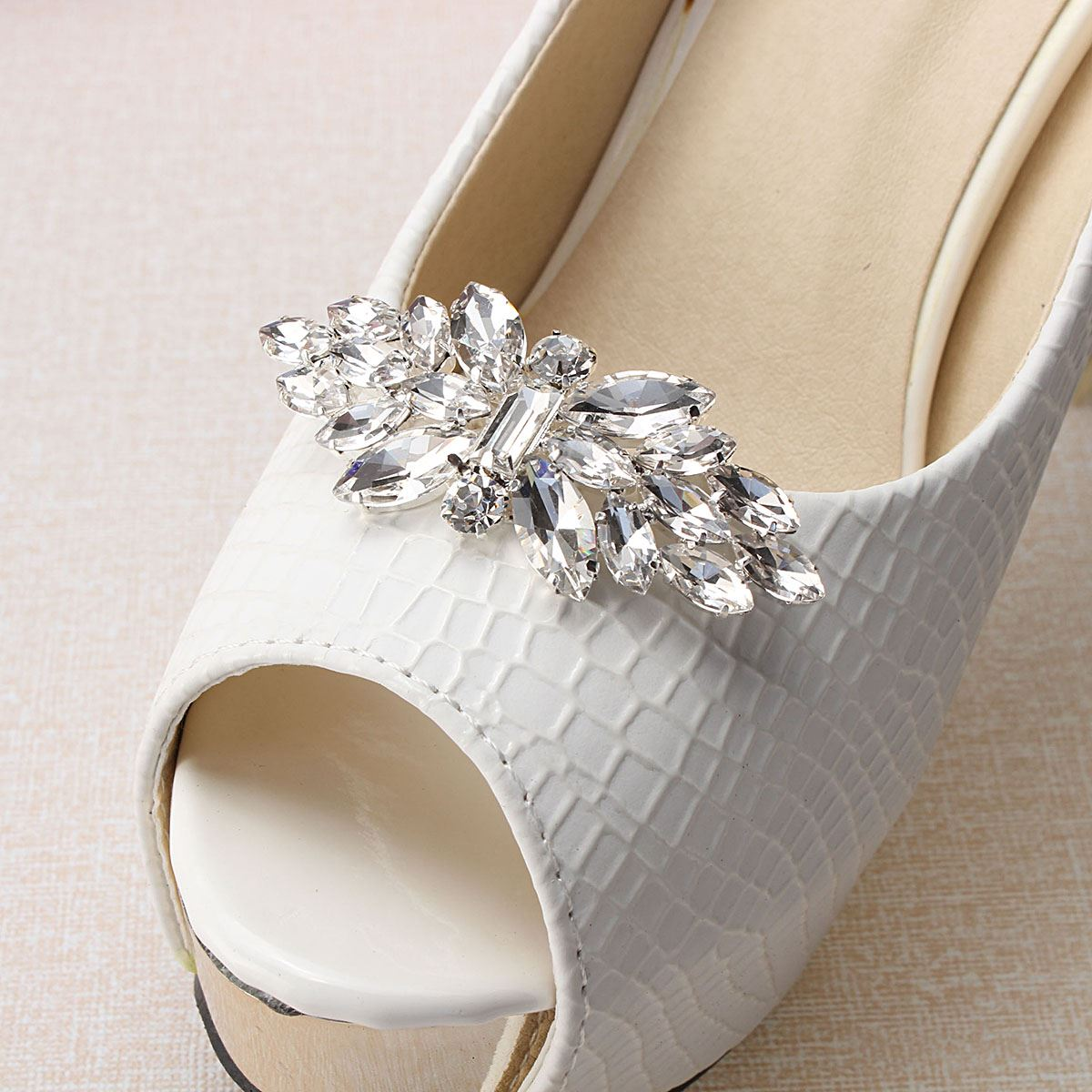 Shoe clips wedding reviews online shopping shoe clips for Decoration clips