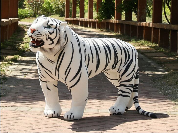 big new simulation tiger toy huge plush tiger doll strong tiger doll about 112x72cm stuffed animal 110cm plush tiger toy about 43 inch simulation tiger doll great gift free shipping w018