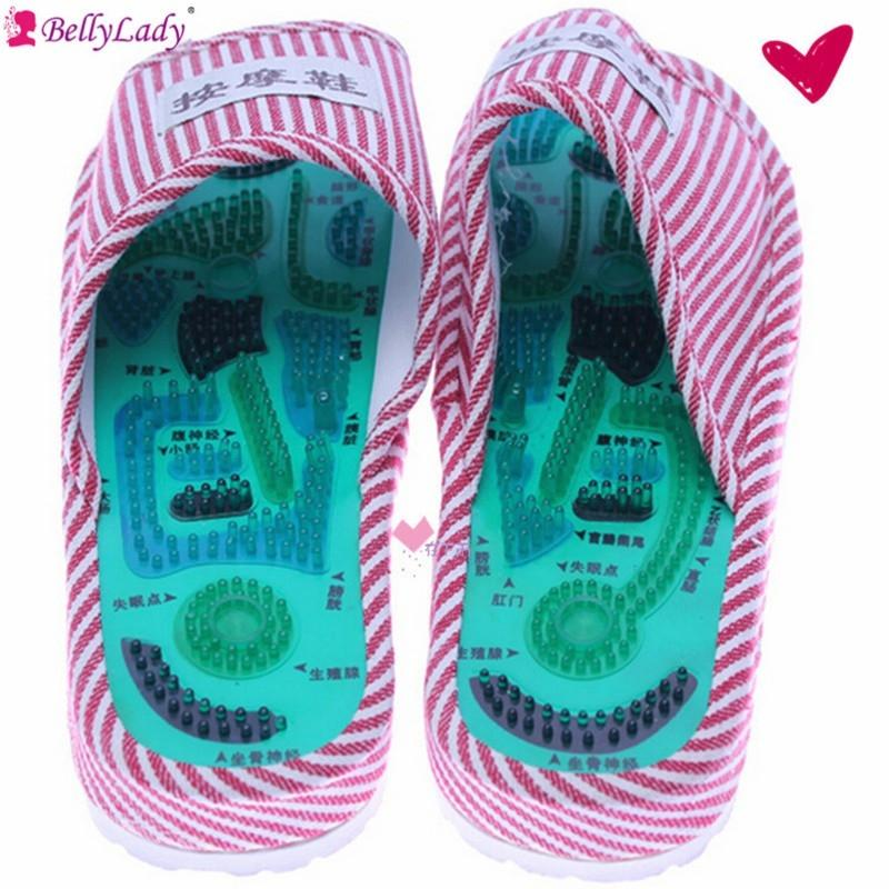Reflexology Foot Acupoint Massage Slipper Foot Health Care Shoes Promote Blood Circulation Relaxation Pain Relief far infrared heat foot massager vibrating massage blood circulation pain relief