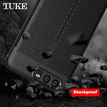TUKE Litchi Texture Phone Cases For Huawei P10 Plus Case Soft Silicone Anti-knock Cover VKY-L09 VKY-L29 Shockproof Capa Coque(China)