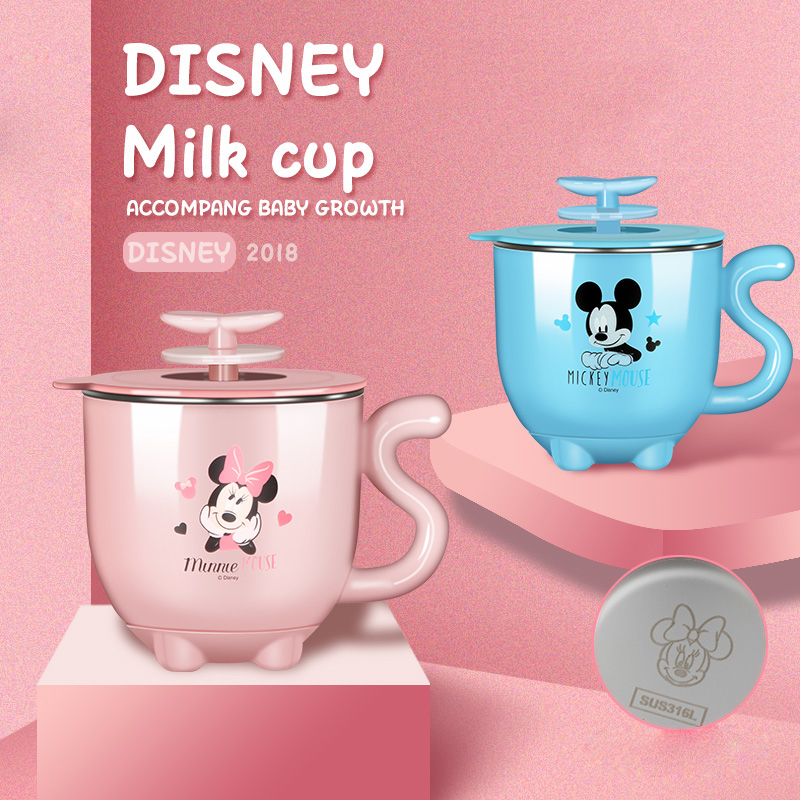 Disney Children's Cup Stainless Steel Drinking Cup for Kindergarten Bagy Shatter-resistant Cup for Home Use shatter