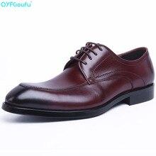Brand Italian Fashion Handmade Genuine Leather Men Black Wine Red Formal Shoes Luxury Business Wedding Dress Shoe