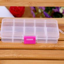 New Arrived Clear Jewelry Beads Container Storage Plastic Box 10 Compartments Home Storage Tool LX1839