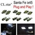 10 unid x de calidad Superior kit Xenon blanco LED luz interior paquete para Hyundai Santafe Santa fe ix45 (2006-2012)