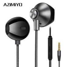 AZiMiYO Metal bass Earphones Comfortable In-Ear Noise Cancelling earbuds 3.5 mm