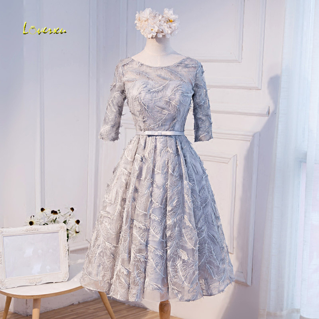 Loverxu New Arrival Fashion Feathers Lace Homecoming Dresses 2019 Elegant Sashes Celebrity Dress Short Prom Party Gown Plus Size
