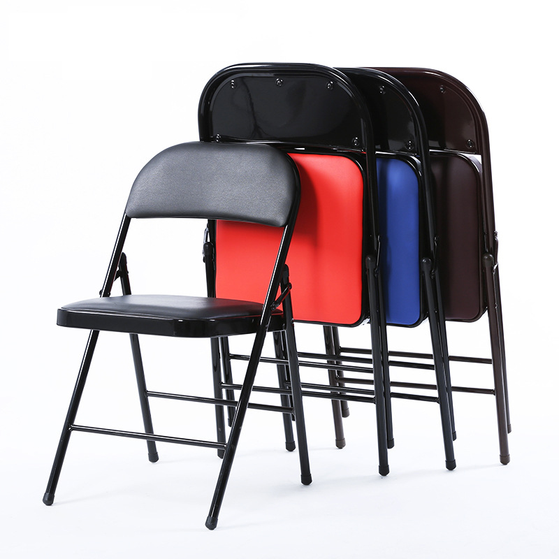 6 Pcs /lot High Quality Simple Foldable Computer Office Chair Portable Folding Household Dining Leisure Chair Silla Escritorio
