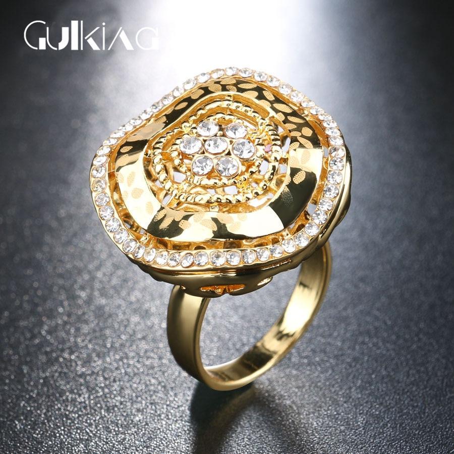 2017 new dubai gold color luxury big rings for women for Dubai gold wedding rings