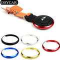 * DSYCAR 10Pcs/Lot keychain decorative metal ring Car styling For Bmw MINI COOPER key ring protection remote control refit