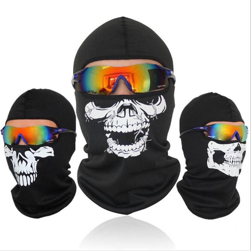 Outdoor riding mask call of duty tactical ghost mask hood hoe outdoor windproof cold riding mask image