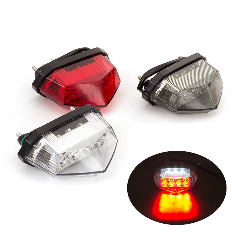 12V Universal Motorcycle <font><b>LED</b></font> Tail <font><b>Light</b></font> Turn Signal Brake <font><b>Light</b></font> Lamp <font><b>LED</b></font> For <font><b>Yamaha</b></font> Honda Suzuki Kawasaki YZF <font><b>R1</b></font> R6 R3 FZ1 MT09 image