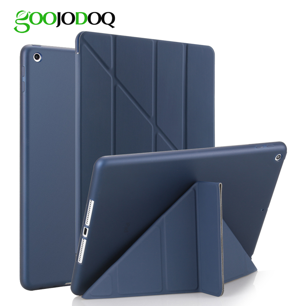 For iPad 9.7 2017 Case PU Leather Silicone Soft Back A1822 A1823 Transformers Slim Smart Cover for iPad 2017 Case 9.7 inch