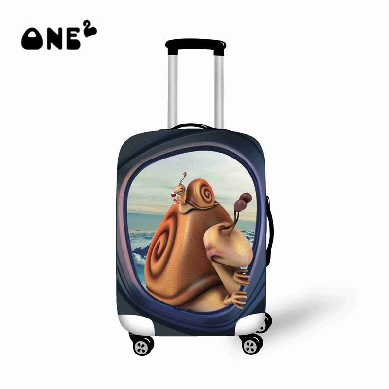 FOR U DESIGNS 18//20//24//28 Inch Creative Color Printed Luggage Cover Spandex Travel Suitcase Protective Cover