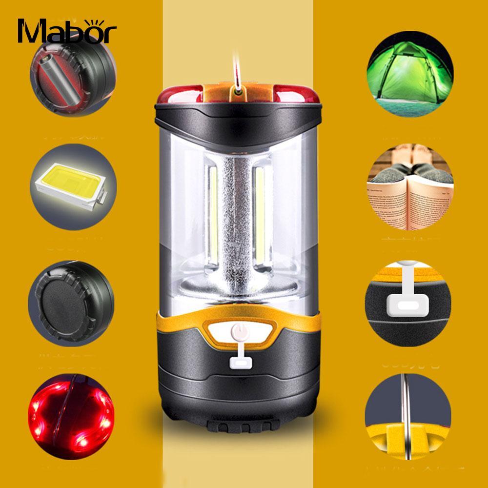 Multi-Function Super Bright Tent Lamp Camping Lights Portable Lantern Dual Power 3 Modes Orange Outdoor Flashlight Travel