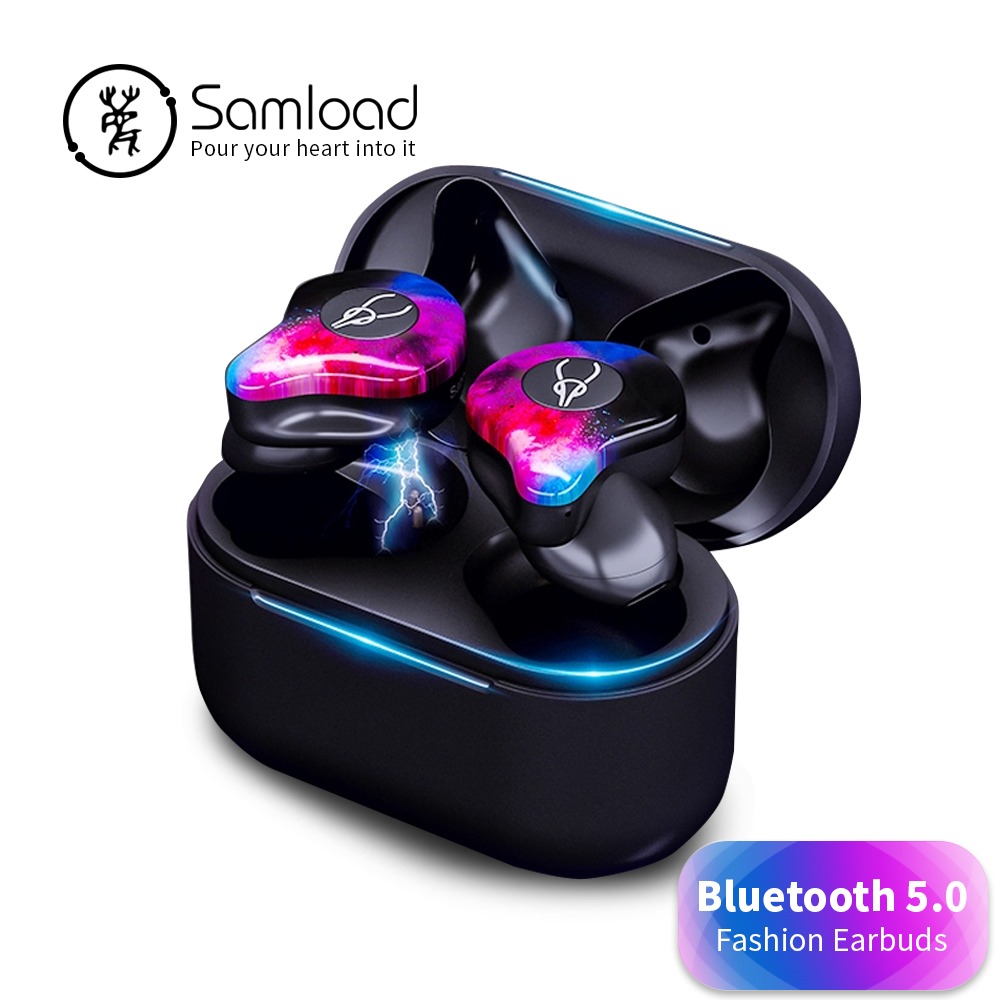 Samload Sport Wireless Headset Bluetooth 5.0 Headphons 3D Deep Bass Earbuds Fitness music Earphones For Apple iPhone 7s 8 Xiaomi