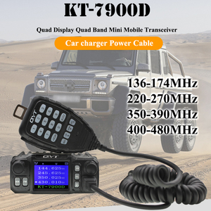 Image 2 - 2019 Latest Version Mini Mobile Radio QYT KT 7900D 25W Quad Band 144/220/350/440MHz KT7900D UV transceiver or with Power Supply