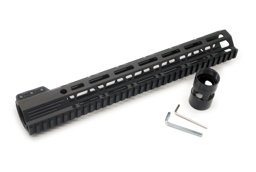 Tactical Black 13 5 Inch Clamping M lok Picatinny Rail Handguard for Hunting Fit AR15