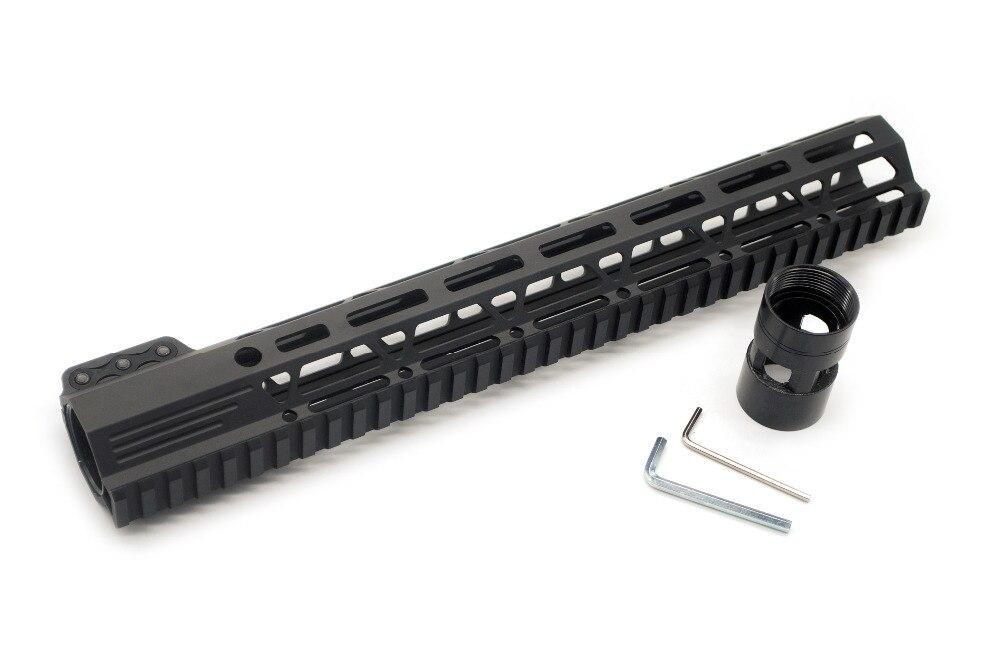 Tactique Noir 13.5 ''Pouces De Serrage M-lok Picatinny Rail Handguard pour La Chasse Fit AR15