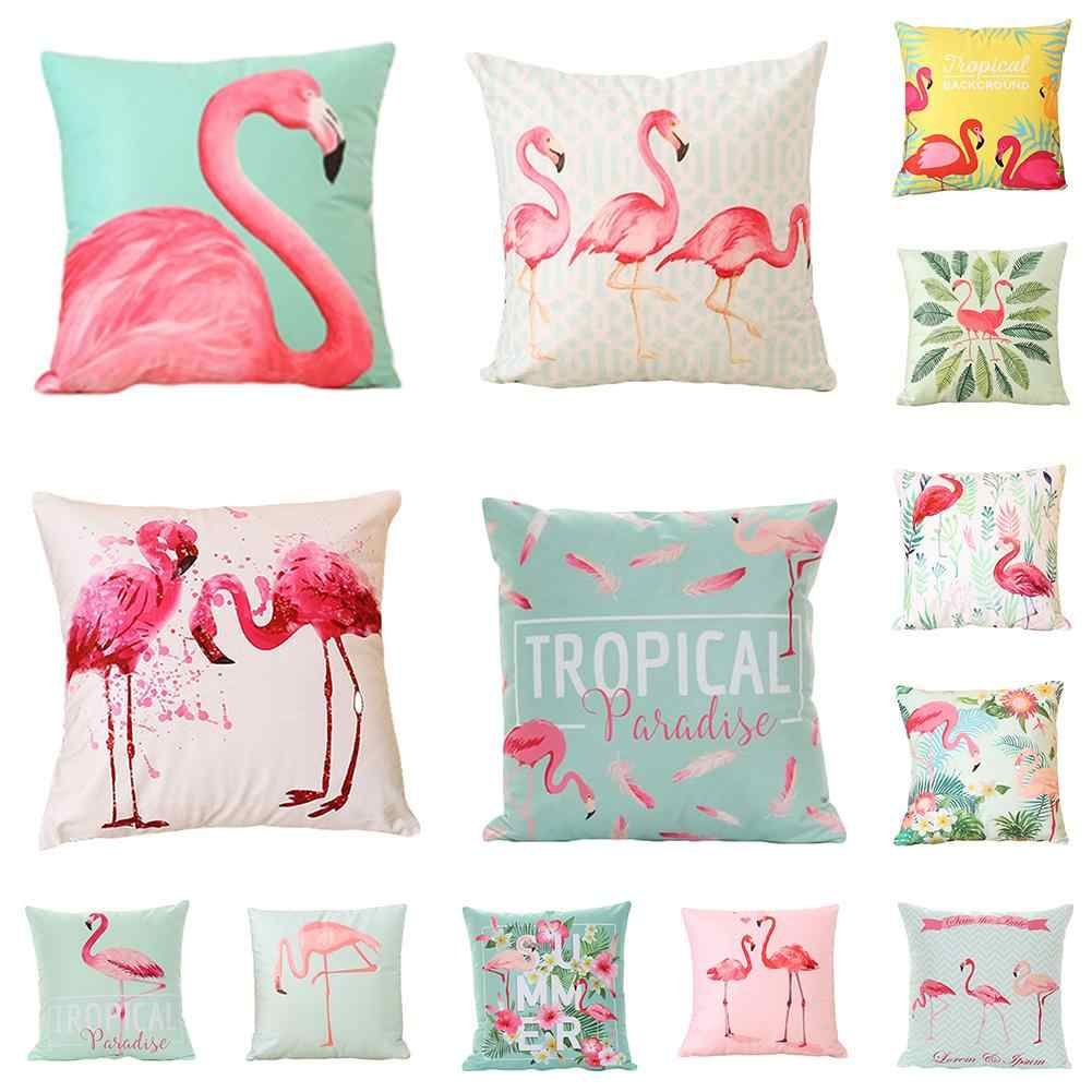 18 Inch Musim Panas Flamingo Bantal Cover Melempar Bantal Case Dekorasi Rumah Sofa Bed Bantal Bantal Bantal Cover Fashion