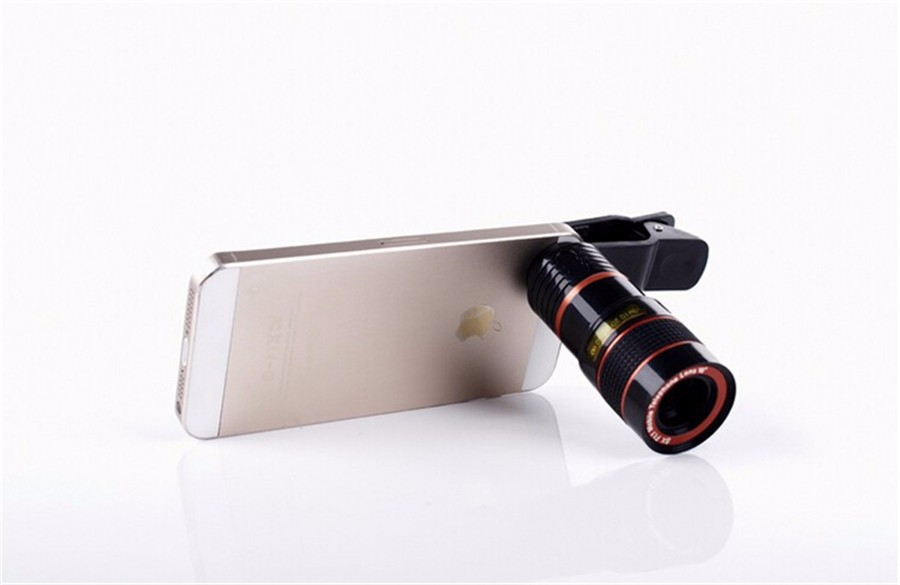 YIFUTE Lenses Universal Clip 8X Zoom Telephoto Lens HD Mobile Phone Camera Lenses For Apple iPhone 5 Samsung Xiaomi Redmi Huawei 6