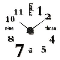 Art Simple Diy Wall Clock Antique Modern Design 3d Clock Wall Stickers Office Wandklok Decorative Living Room Clocks 50b038