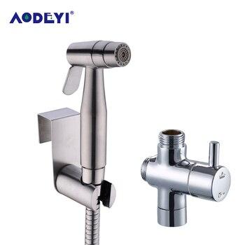 цена на AODEYI Bidet Two Function Toilet Hand Held Diaper Sprayer Shower Shattaf Bidet Spray Douche Kit Jet 304 Stainless Steel Shower