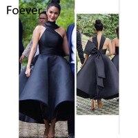 2019 New Ball Dress Sweet 15 vestido de festa Halter Off shoulder Black Draped Bow Women Formal prom Evening dresses