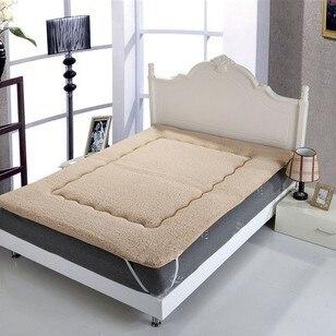100% супер удобная теплая матрас, мягкая овечка mattress180 * 200 см, верблюд и белый, king size mattre подходит для 1.8 м кровать